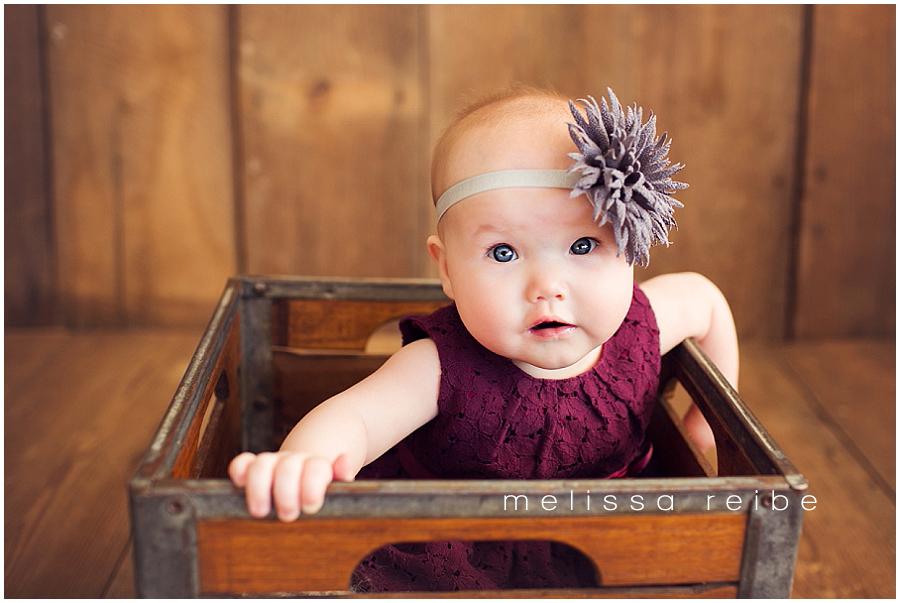 Six month baby portrait