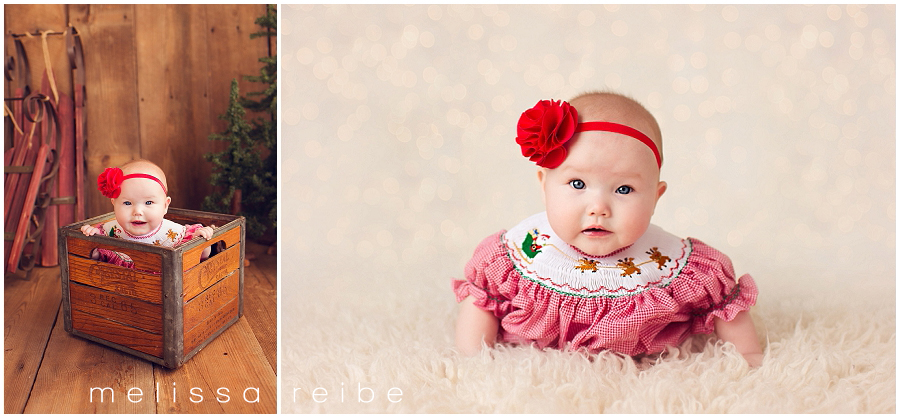 six month christmas pictures