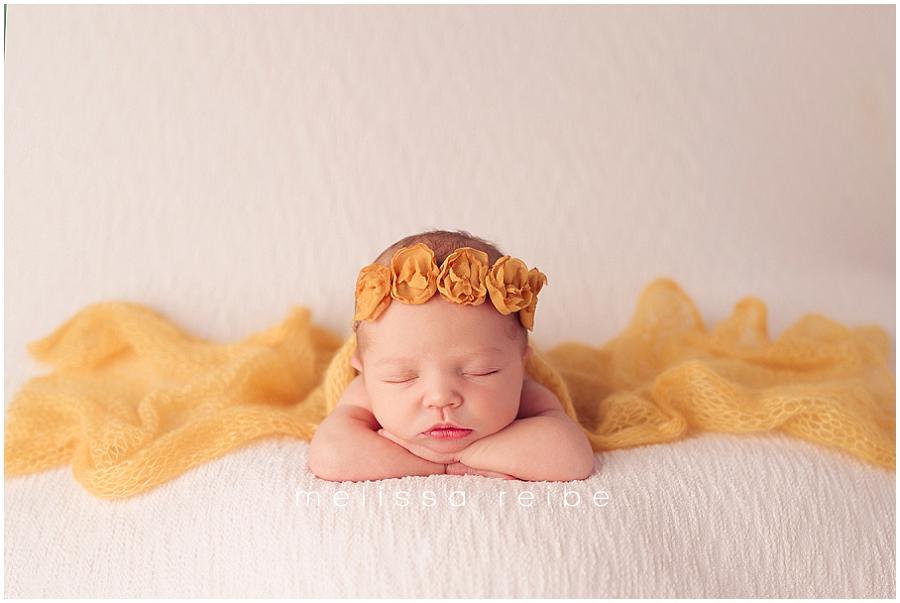 Newborn with yellow
