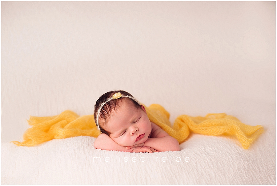 Newborn with yellow