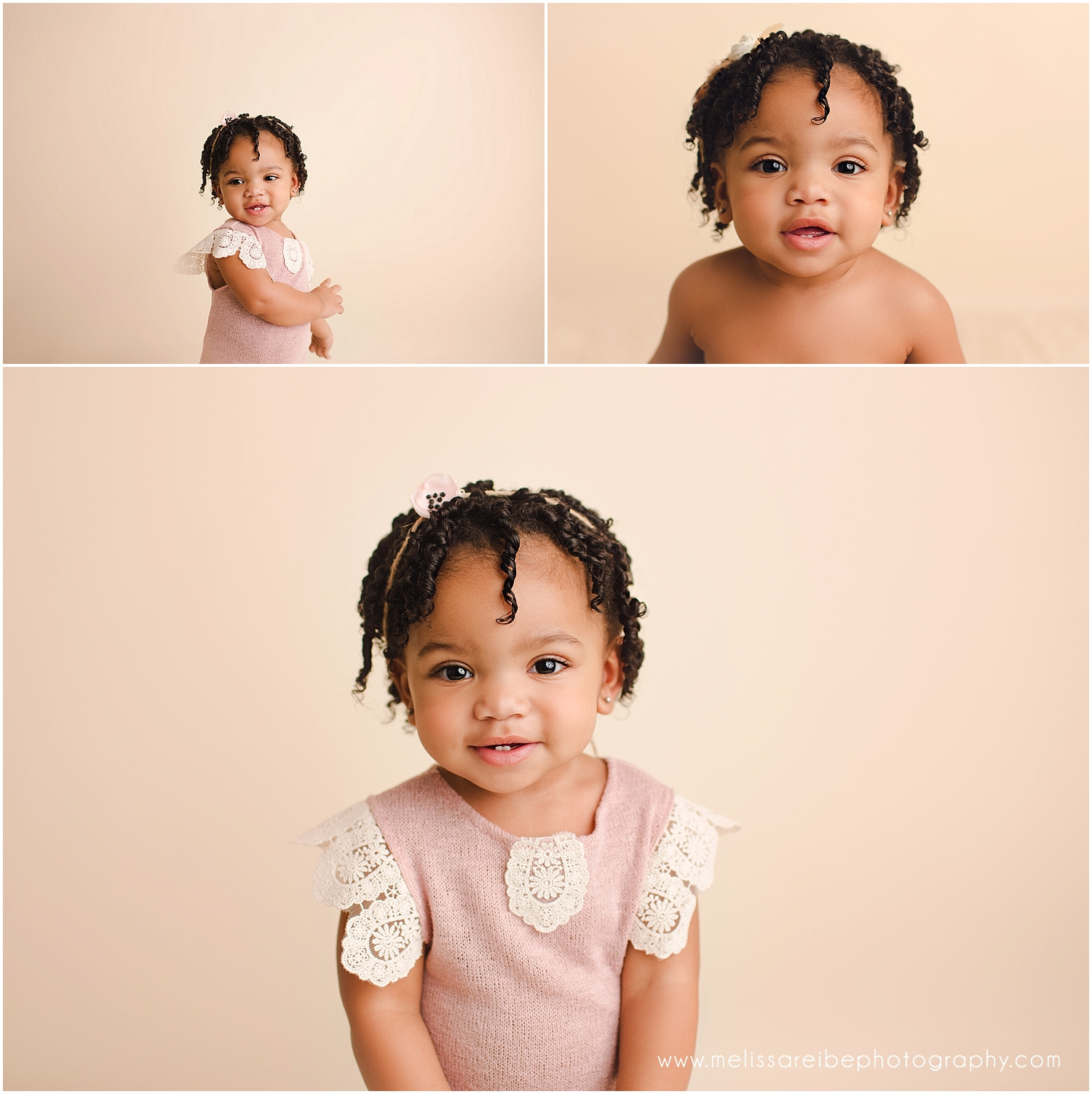 One Year Pictures on cream backdrop