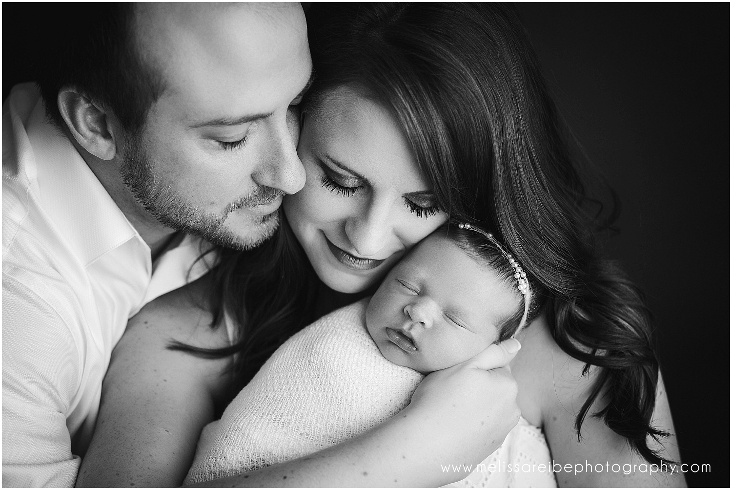 black and white parent picture
